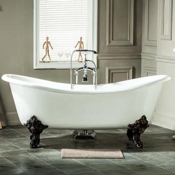 Double Slipper Cast Iron Bath Tub With