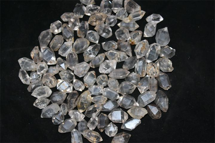 diamond gm quartz herkimer crystals lot kavels of