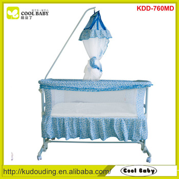 Factory Price NEW Portable Baby Cradle Swing Baby Bassinet Deluxe High Pole  Mosquito Net Baby Swing