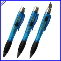 Multi functional promotional ball pen with knife