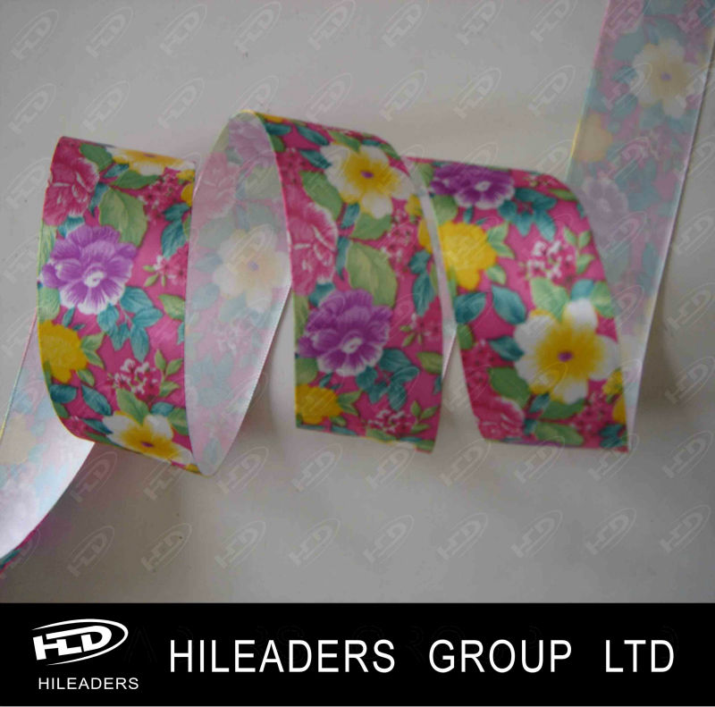 Cartoon Pictures Printed Satin Ribbon