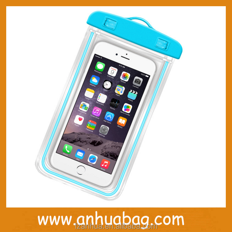 Hot Sell Noctilucence PVC Mobile Phone Waterproof Bag for Iphone