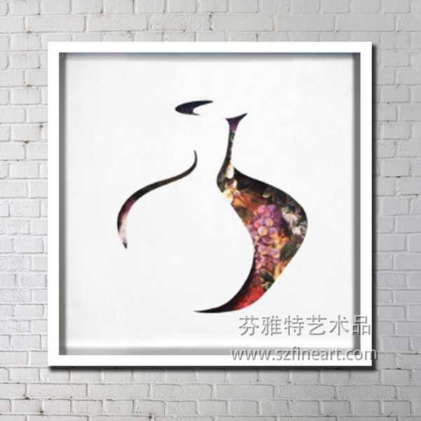 good quality china blue design abstract oil painting with frame