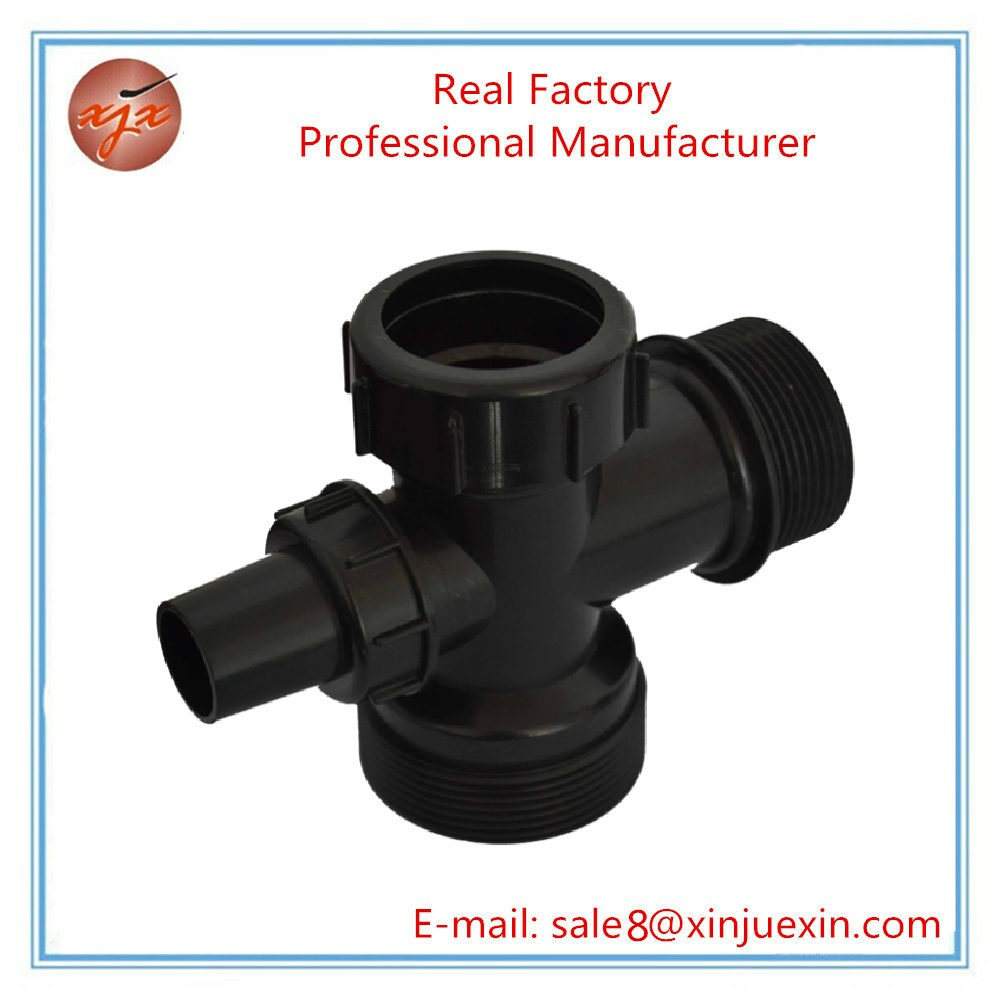 Plastic water pipe fitting connector adjustable tube