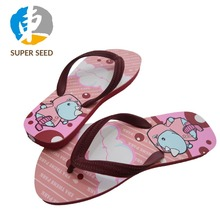 Custom printing flip flop EVA slippers for 2018 Women summer EVA slippers