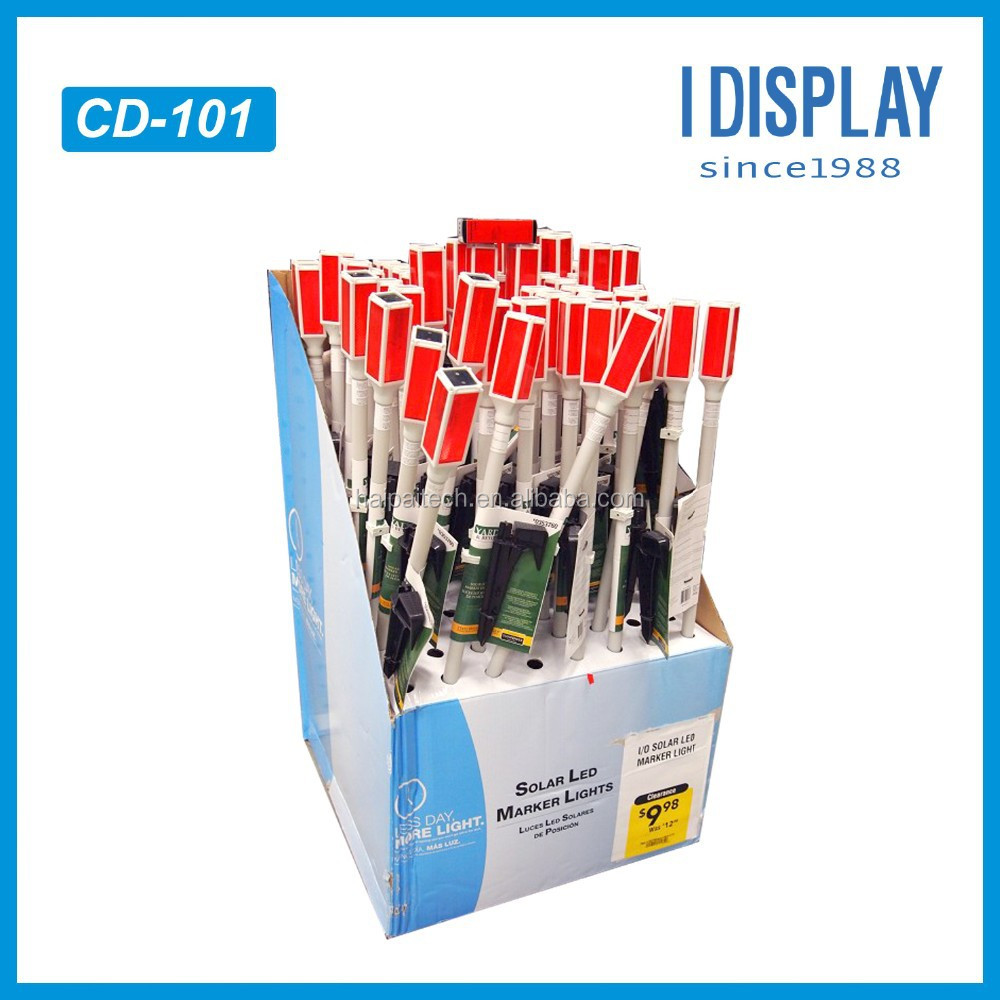 PDQ Cardboard Table Display For Solar Led lights