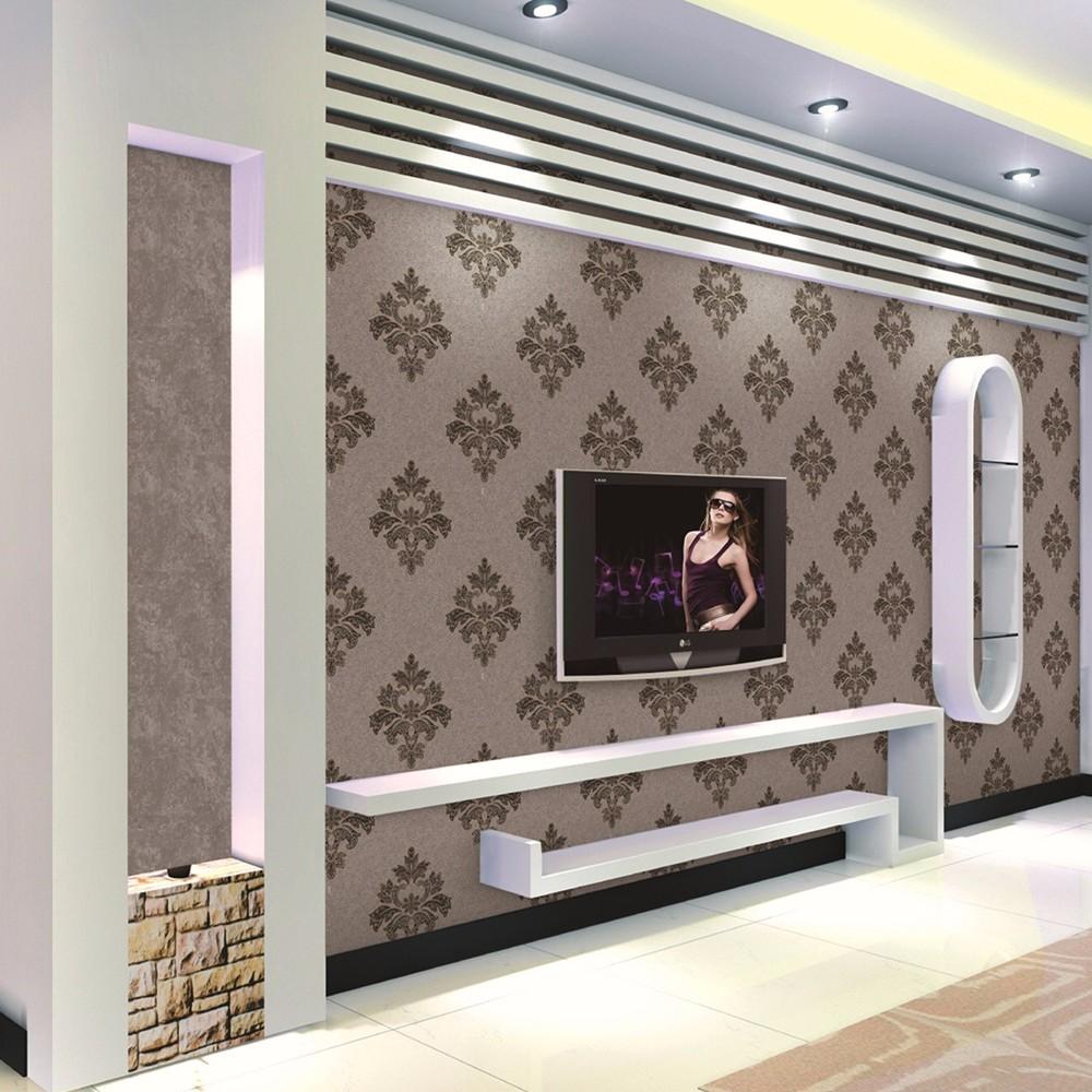 Chinese Leverancier decoratieve PVC TV achtergrond muur behang ...