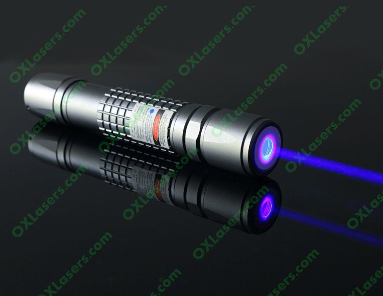 OXLasers OX-B40 445nm waterproof 1000mw 1W blue laser pointer with 5 star cap and fousable head burn fireworks