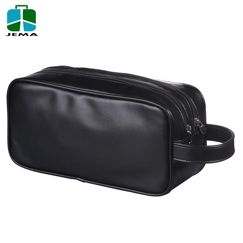 46e071407919 Travel Toiletry Bag in Full-Grain Brown Leather Portable Dopp Kit for  Shaving and Grooming