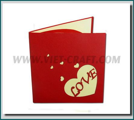 Valentine pop up 3d greeting cards vietnam