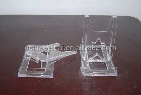 clear plastic plate stand display easel stand display