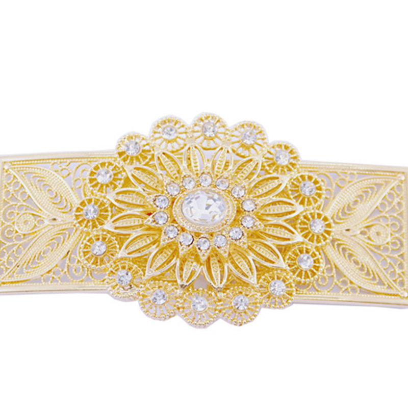 Fashion women's wedding dress waist chain metal belt follow the trend of crystal metal belt