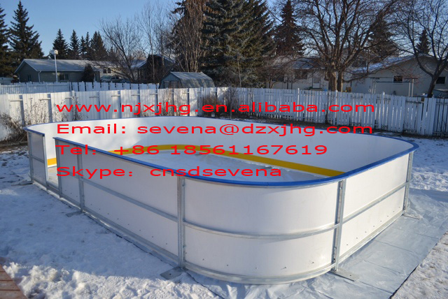 ice rink bakyard Arena/synthetic ice rink panels/hockey skate rink board