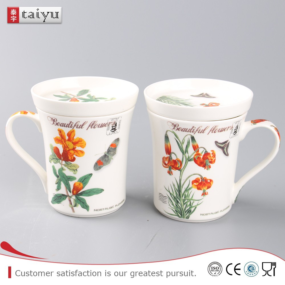 customized long service life pig shaped coffee cup with lid
