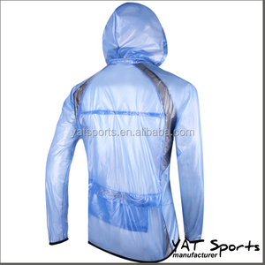 promotional selling with printing logo design pocketable Custom waterproof windbreaker cycling gear