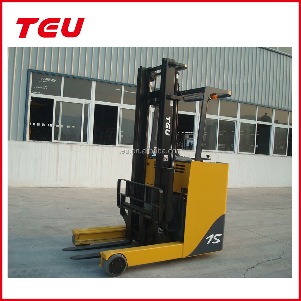 TEU 1.5 Ton Reach Fork Trucks Electric Forklifts