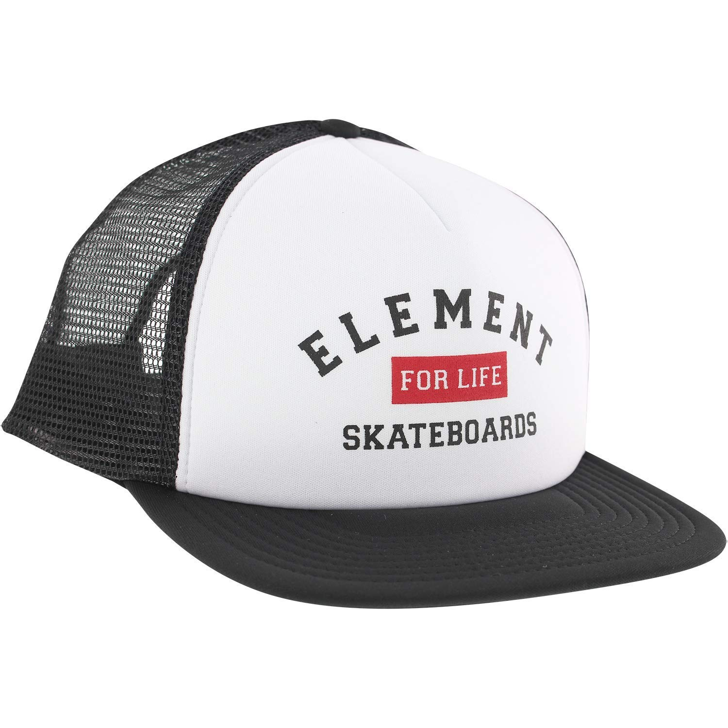 19d22af031a Get Quotations · Element Skateboards Rift White Black Mesh Trucker Hat -  Adjustable