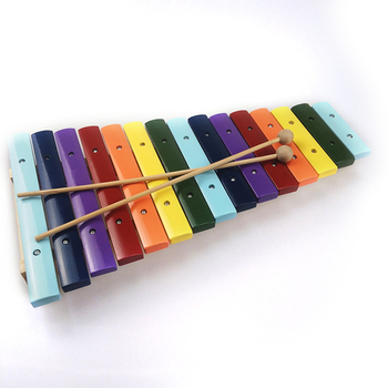 musical instrument colorful wooden rainbow xylohone  for kids