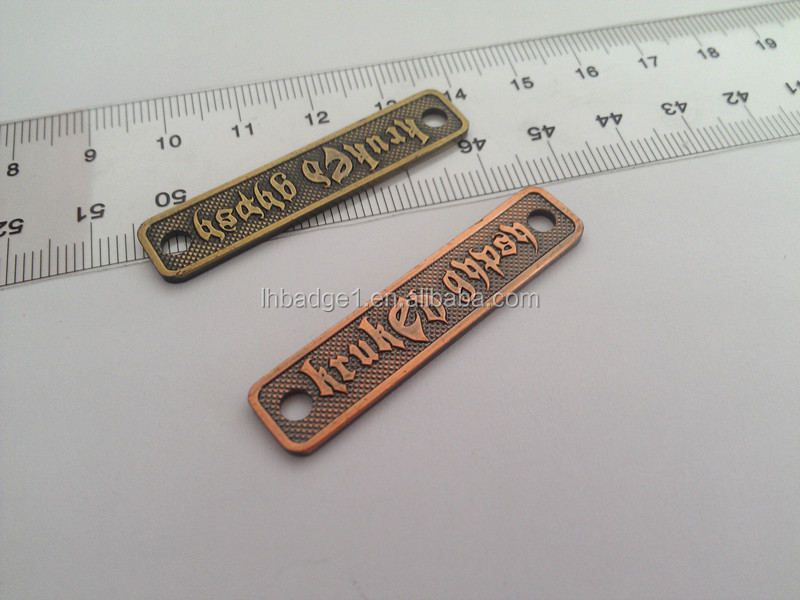Wholesale Custom Logo Stamped Metal Tag Charms,Personalized Letter ...