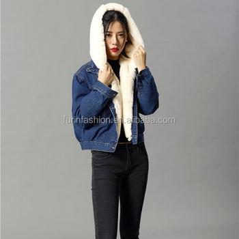 3c1da7fa Wholesale New Design Winter Jeans Jacket With Rex Rabbit Fur Lined&fur  Hooded Parka For Fashion Girls - Buy Real Fur Hood Parka,Parka Fur,Rex  Rabbit ...