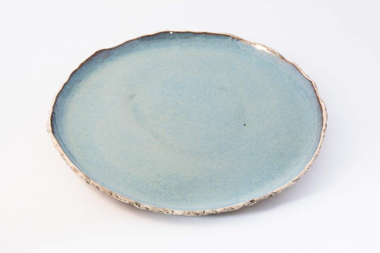 Blue dinnerplate, Blue ceramic plate, Handmade dinner plate, stoneware plates, Organic dinnerware, Rustic plates, Tableware, Wedding gift