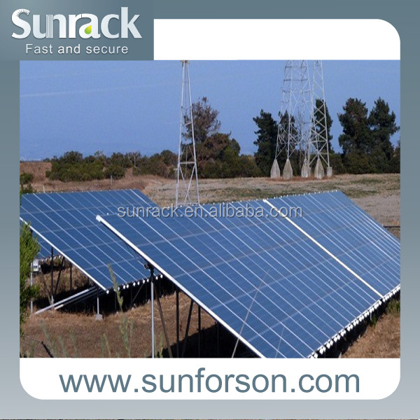 solar bracket ground pv mounting system with concrete base