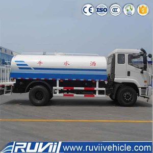 Ruvii (Foton) 4x2 Axles Water Tank 8000L Stainless Steel Drinking Water Tanker Truck