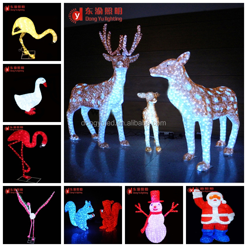 alibaba cheapest price outdoor christmas decorations rope lights animated running deer led motif light decoration