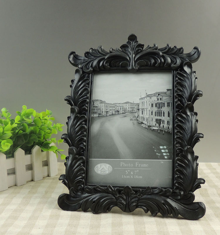 Wholesale Black Baroque 5x7 Resin Photo Frame For Funeral Decor ...