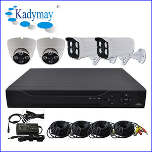Made in china 4CH CVR kits, cheap cctv cvr camera kit.IR Dome and bullet camera CVR home security system