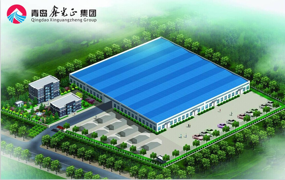 Qingdao Modern Steel Structure Factory Shed Design