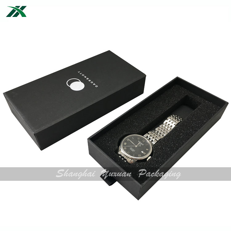 Custom gift box drawer flat packaging for watch or buckle