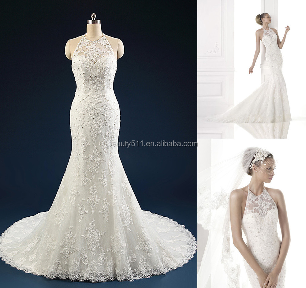 2018 New Style Luxury Beaded Sweetheart Neckline Off-shoulder Mermaid Lace wedding dresses