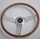 Custom 350mm Vintage 6 bolt Wooden Steering Wheel with Horn Push