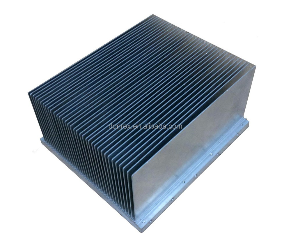 Audio Amplifier Aluminum Extrusion Heat Sink With Anodized Black ...