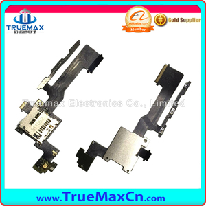 Spare Part Power button+Volume flex cable for htc one m9 Phone with SD Card Read Phone Part
