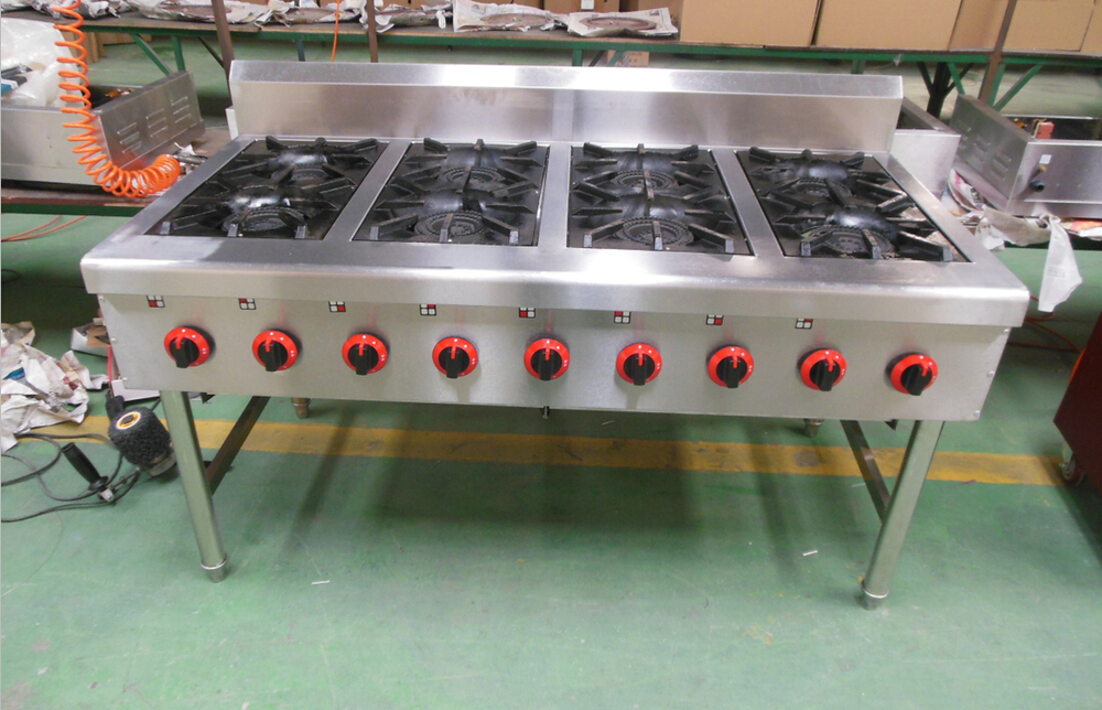 hotel catering equipment gas range with 4 burners 6 burners 8 burners - 6 Burner Gas Range