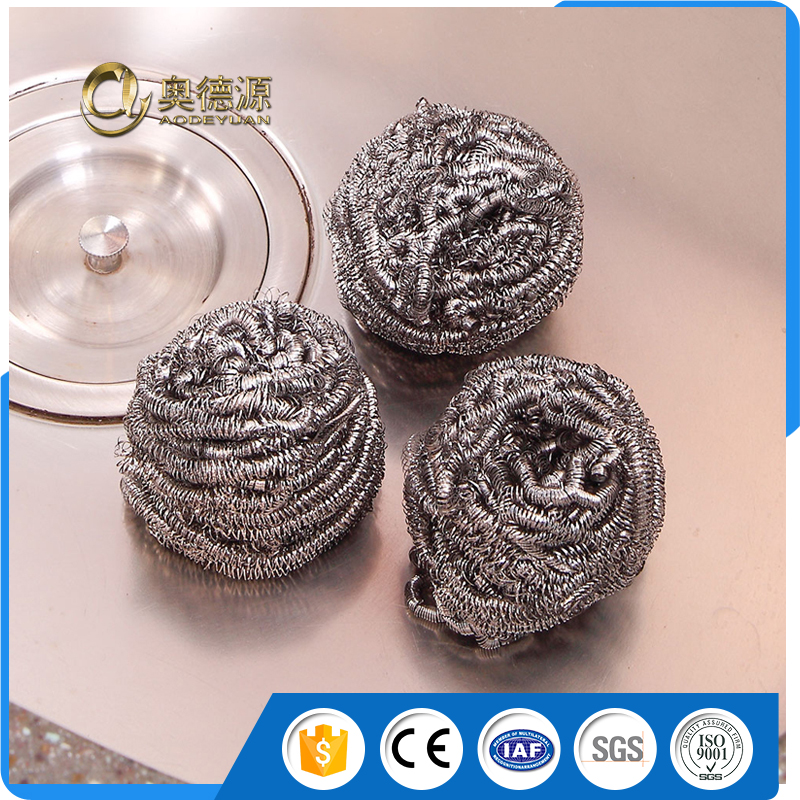 High quality stainless steel scourer / cleaning ball / sponge for metal scourer