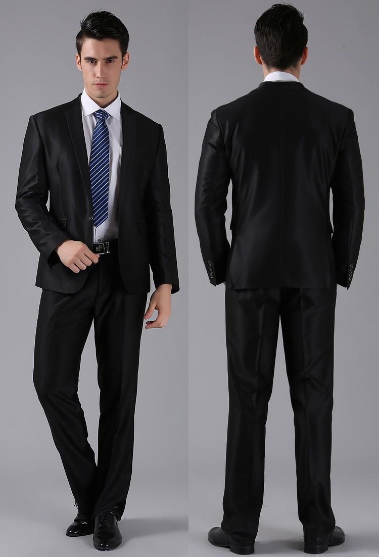 (Kurtki + Spodnie) 2016 Nowych Mężczyzna Garnitury Slim Fit Niestandardowe Garnitury Smokingi Marka Moda Bridegroon Biznes Suknia Ślubna Blazer H0285 17
