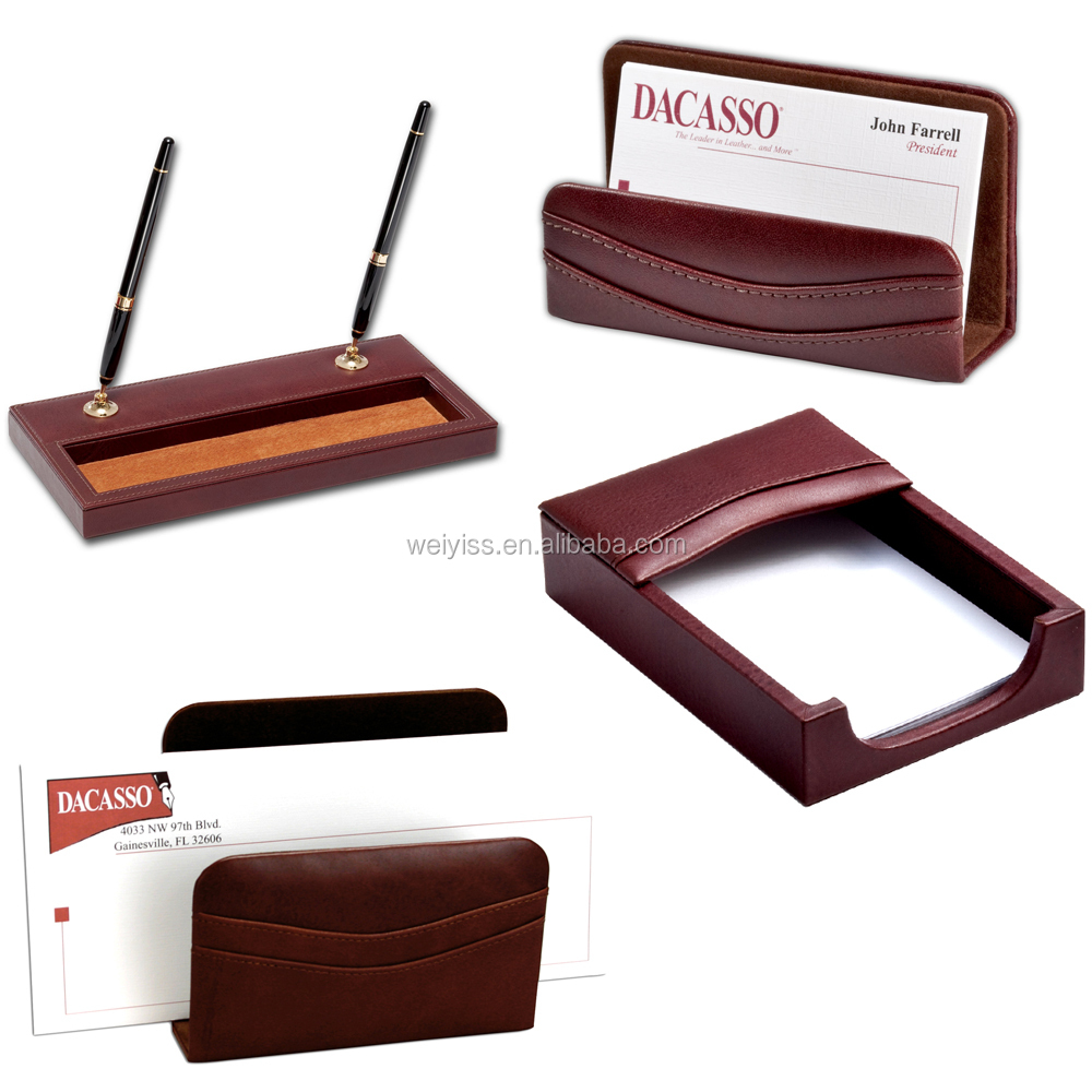 Modern Luxury Office Desk Leather Stationery 10 Pieces Sets