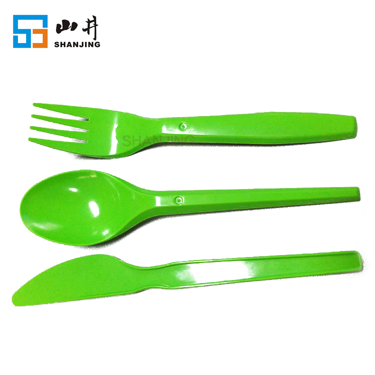 spoon fork knife sets portable disposable plastic kids cutlery set for camping travel restaurant