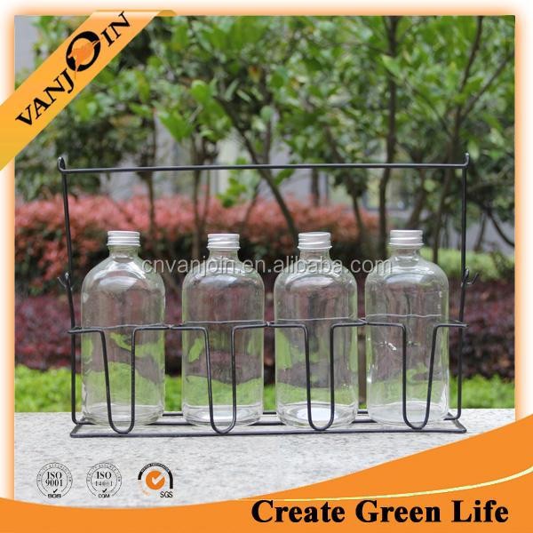 500ml Juice Bottle With Wire Carrier