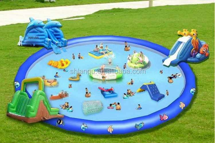 High Quality Big Swimming Pool Inflatable Slide