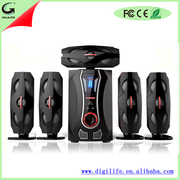 Active 5.1 Home Theater Speaker Audio Sound System With Blue Led ...