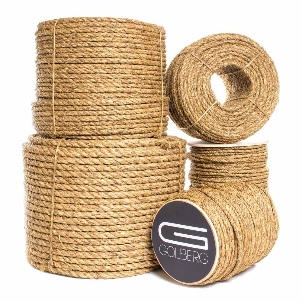 T.W Evans Cordage 25-044 1//2-Inch by 150-Feet Pure Number-1 Manila Rope Reel T.W Evans Cordage Co.