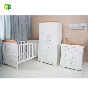 Yibang New Wood Baby Bed bedroom furniture set,unique bamboo baby crib