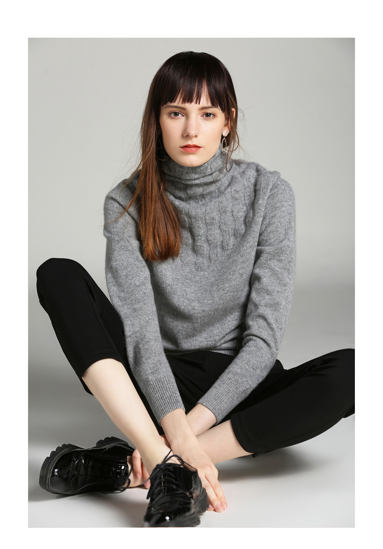 Latest design custom knitted pure cashmere ladies fancy women sweater