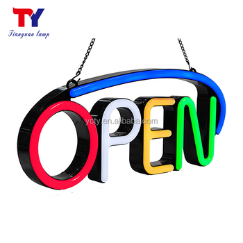 Custom Made Super bright Electronic LED Neon OPEN Sign Board