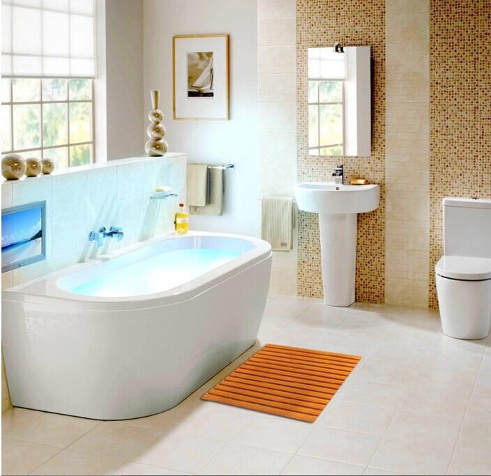 bathroom floor mats for wood 111natutal solid wooden bathroom shower floor mat non slip wood