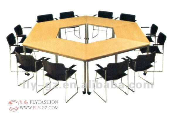 Moderne en forme de u de conférence en bois bureau mobilier de